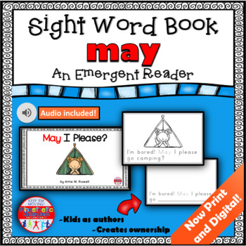 Sight Word Book Emergent Reader - MAY
