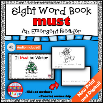Sight Word Book Emergent Reader - MUST