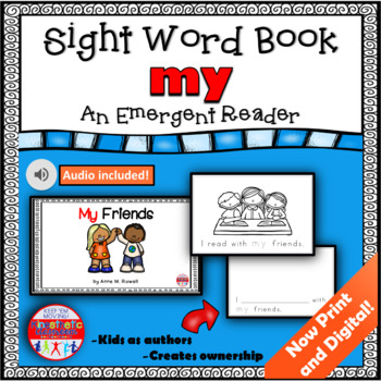 Sight Word Book Emergent Reader - MY