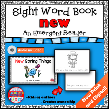 Sight Word Book Emergent Reader - NEW