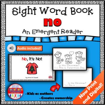Sight Word Book Emergent Reader - NO