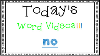 Sight Word Book Emergent Reader - NO