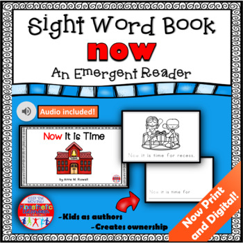Sight Word Book Emergent Reader - NOW