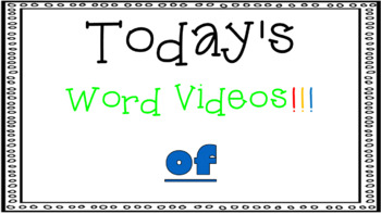 Sight Word Book Emergent Reader - OF