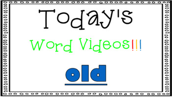 Sight Word Book Emergent Reader - OLD