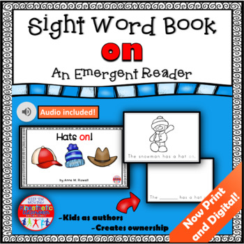 Sight Word Book Emergent Reader - ON