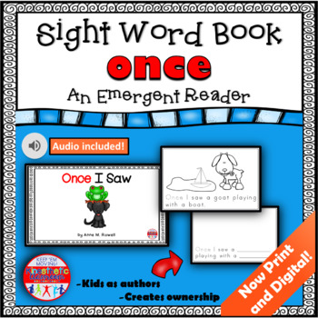 Sight Word Book Emergent Reader - ONCE