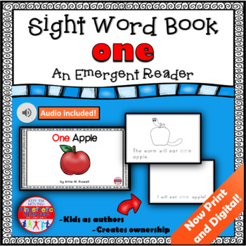 Sight Word Book Emergent Reader - ONE