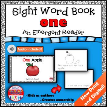Sight Word Book Emergent Reader - ONE