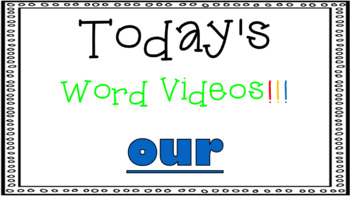 Sight Word Book Emergent Reader - OUR