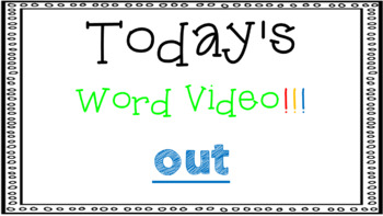 Sight Word Book Emergent Reader - OUT