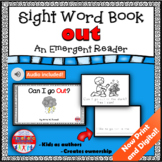Sight Word Book Emergent Reader for the Word OUT Print and Digital with Audio