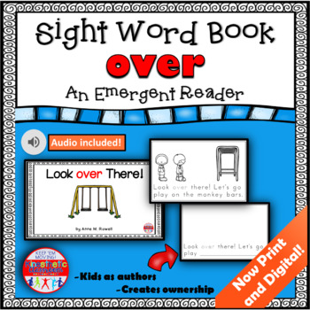 Sight Word Book Emergent Reader - OVER