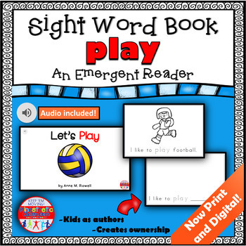 Sight Word Book Emergent Reader {Sight Word PLAY}