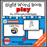 Sight Word Book Emergent Reader PLAY Digital Distance Lear