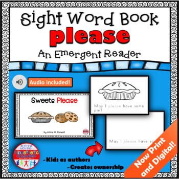 Sight Word Book Emergent Reader - PLEASE