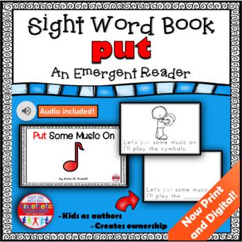 Sight Word Book Emergent Reader - PUT