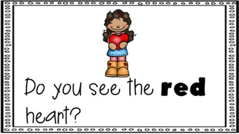 Sight Word Book Emergent Reader - RED