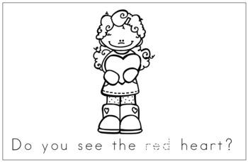 Sight Word Book Emergent Reader - RED