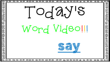 Sight Word Book Emergent Reader - SAY