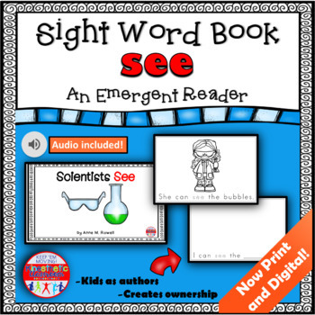 Sight Word Book Emergent Reader - SEE