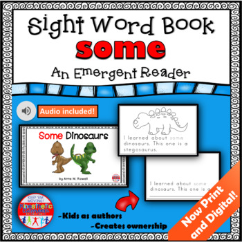 Sight Word Book Emergent Reader - SOME