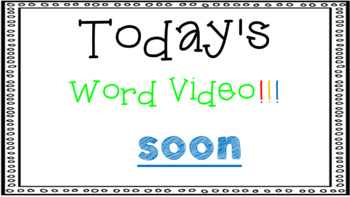 Sight Word Book Emergent Reader - SOON