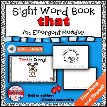 Sight Word Book Emergent Reader - THAT