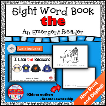 Sight Word Book Emergent Reader - HE