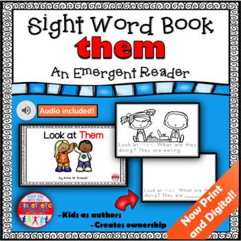 Sight Word Book Emergent Reader - THEM