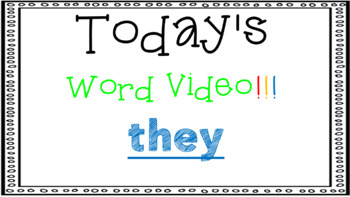 Sight Word Book Emergent Reader - THEY