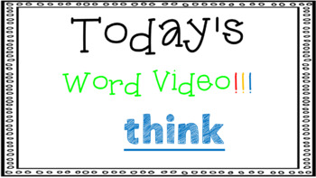 Sight Word Book Emergent Reader - THINK