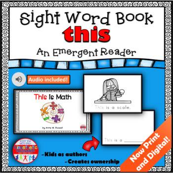 Sight Word Book Emergent Reader - THIS