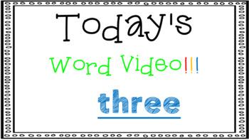 Sight Word Book Emergent Reader - THREE