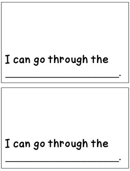 Sight Word Book and Emergent Reader THROUGH