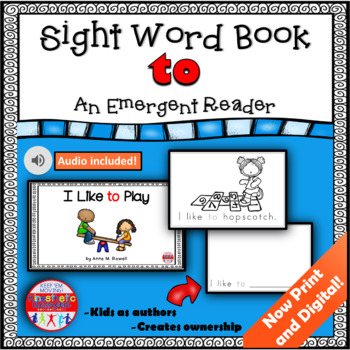 Sight Word Book Emergent Reader - TO