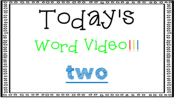 Sight Word Book Emergent Reader - TWO