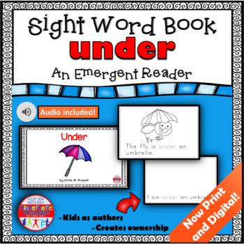 Sight Word Book Emergent Reader - UNDER