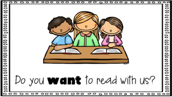 Sight Word Book Emergent Reader - WANT