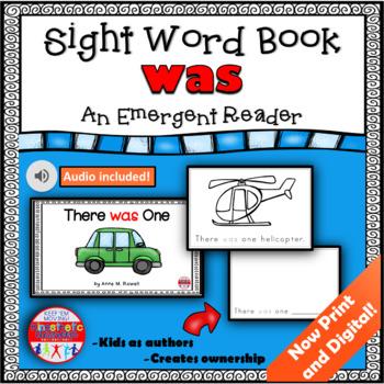 Sight Word Book Emergent Reader - WAS