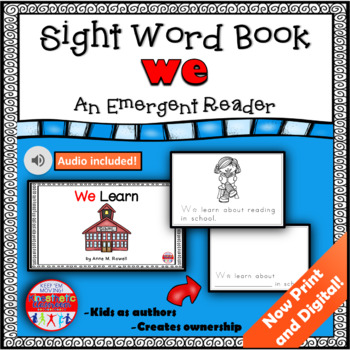 Sight Word Book Emergent Reader - WE