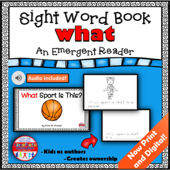 Sight Word Book Emergent Reader - WHAT