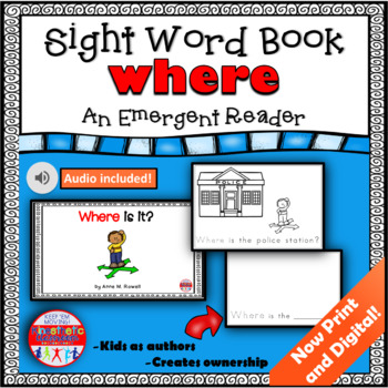 Sight Word Book Emergent Reader - WHERE