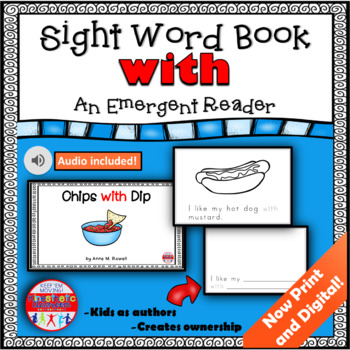 Sight Word Book Emergent Reader - WITH