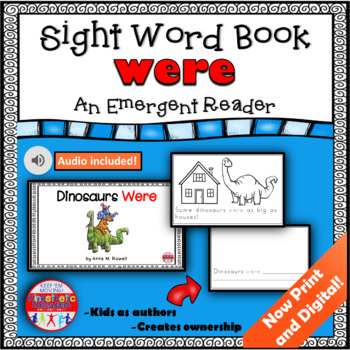 Sight Word Book Emergent Reader WERE