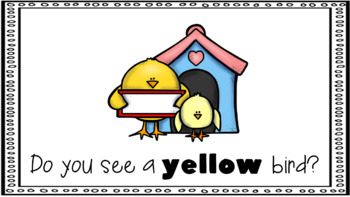 Sight Word Book Emergent Reader - YELLOW