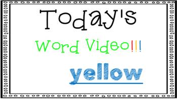Sight Word Book Emergent Reader - YELLOW