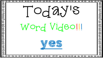 Sight Word Book Emergent Reader - YES