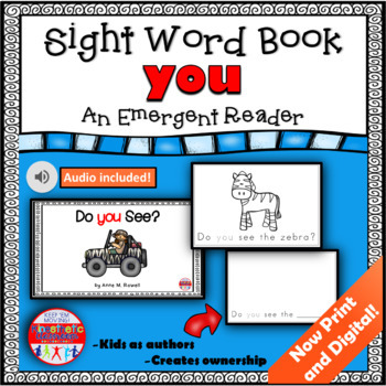 Sight Word Book Emergent Reader - YOU
