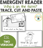 Emergent Reader ESL Trace and Paste - Farm